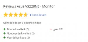Goedkoopste computer monitoren - Asus Vs228NE