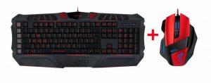 Parthica core toetsenbord en decus gaming muis set Game Toetsenbord en muis set van speedlink De Parthica core gaming toetsenbord en Decus gaming muis