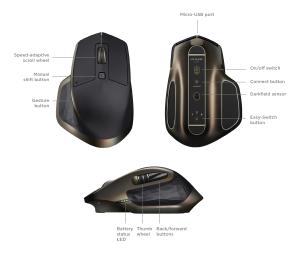 Beste muis voor laptop - Mx master info foto