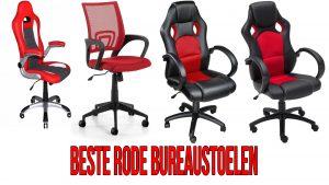Bureaustoel rood - Beste rode bureaustoelen 2017