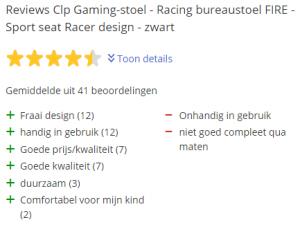 CLP racingstoel review