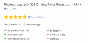 Logitech G29 Racestuur Review
