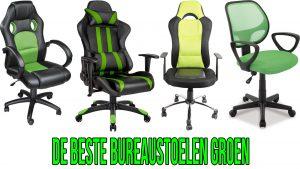 Bureaustoel groen - voor werk - gamen en veel meer