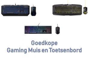 Goedkope gaming muis en toetsenbord