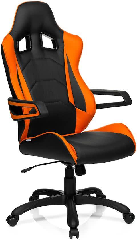 hjh office Racer Pro I PU - Bureaustoel - Leder - Zwart / oranje