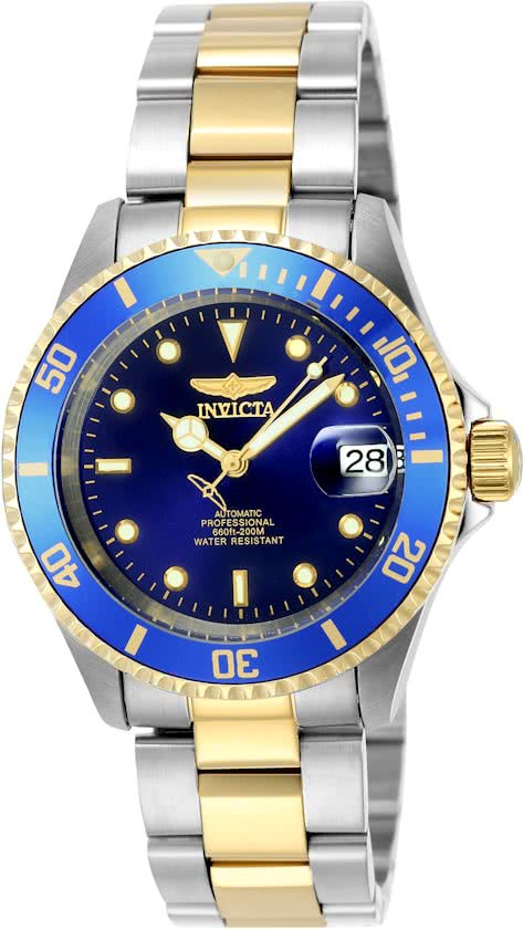 Invicta Pro Diver 8928OB - Horloge - Heren - Staal - Blauw - Automatisch - Ø 40 mm