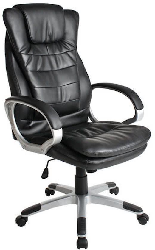 Tectake Luxe design - Bureaustoel - Zwart