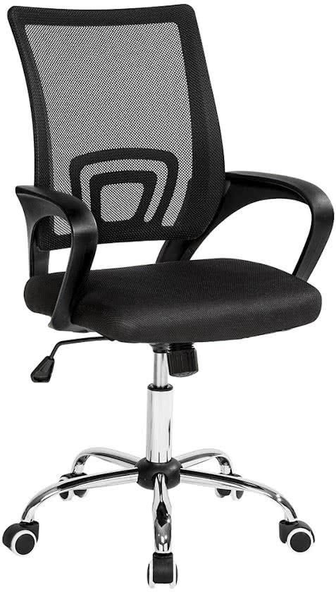 Bureaustoel burostoel kantoor design zwart, 401789