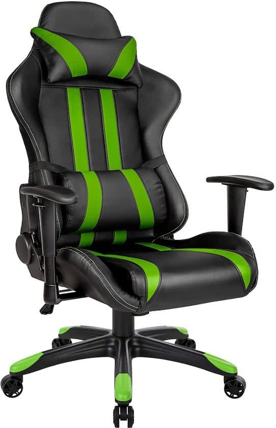 Gaming chair, bureaustoel Premium racing style zwart groen 402032