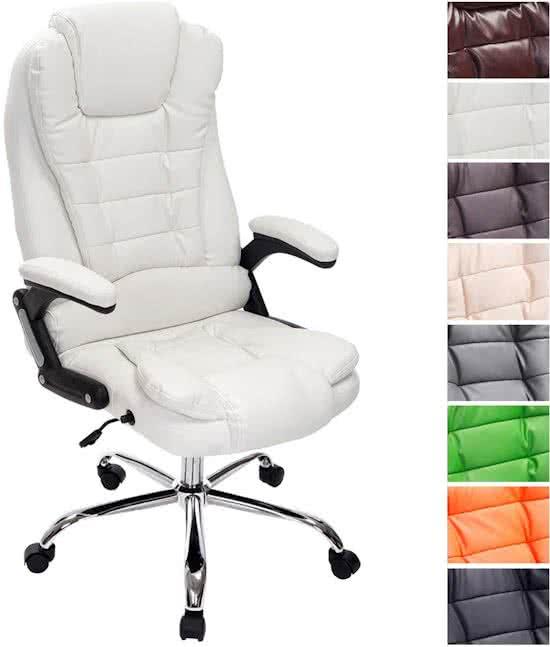 Clp Managerstoel - directiestoel THOR bureaustoel - ergonomisch, belastbaar tot 150 kg - wit