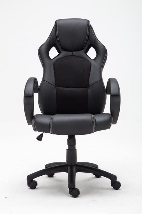 Clp Gaming-stoel - Racing bureaustoel FIRE - Sport seat Racer design - zwart gaming bureaustoel
