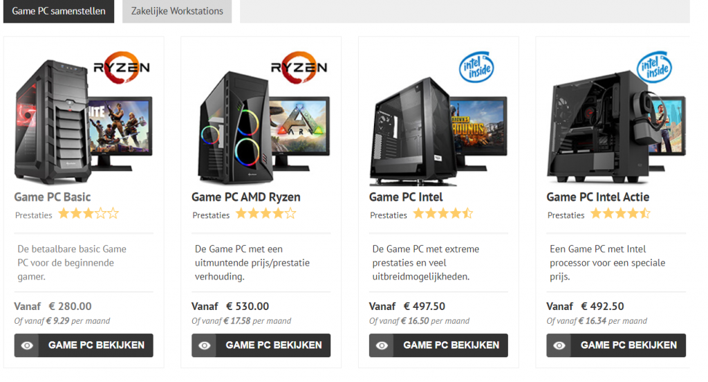 Game pc kopen - Computer-bestel kopen