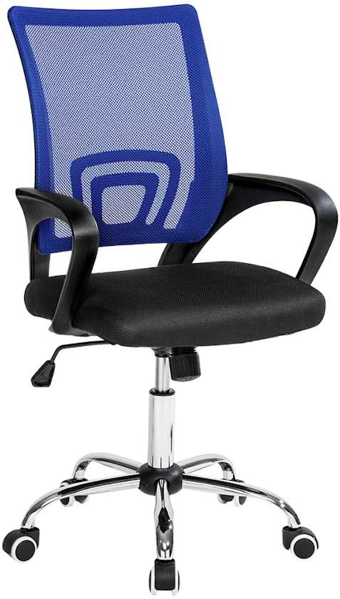 Bureaustoel burostoel kantoor design zwart blauw, 401791