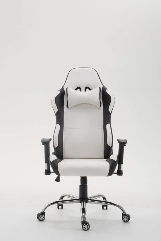 Clp Racing bureaustoel ROSBERG gaming stoel - managerstoel, verstelbare armleuning, kunstleer - wit